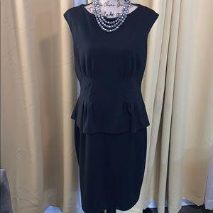 LAUREN by Ralph Lauren Black Peplum Dress - 16